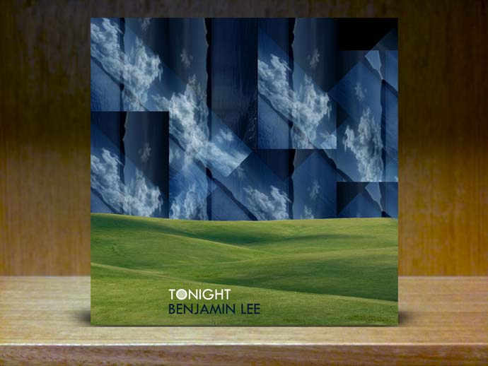 rolling green hills with abstract navy blue sky
